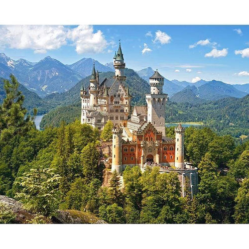 5D DIY Diamond Painting Kits Grand Castle Mountain Scene - 3