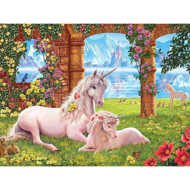 Full Drill - 5D DIY Diamond Painting Kits Unicorn Mother and Girl - NEEDLEWORK KITS
