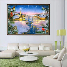 Load image into Gallery viewer, Full Drill - 5D DIY Diamond Painting Kits Winter Landscape Cottage - NEEDLEWORK KITS