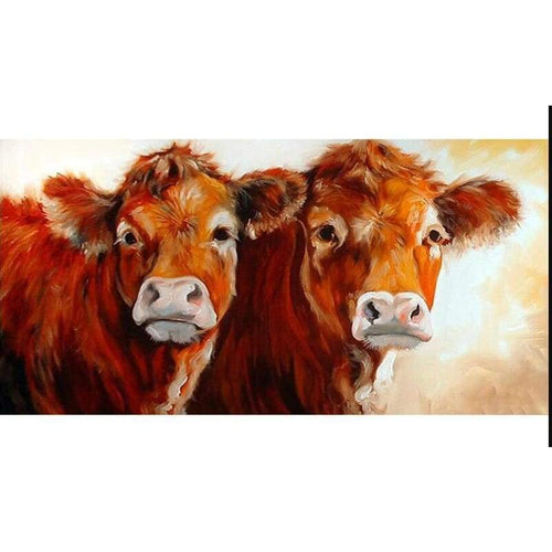 5D Diamond Painting Kits Simple and Honest Cows - 9