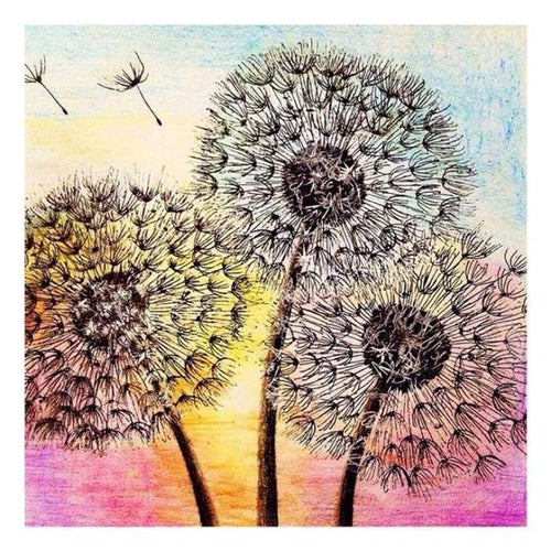 5D Diamond Painting Kits Watercolored Dandelions
