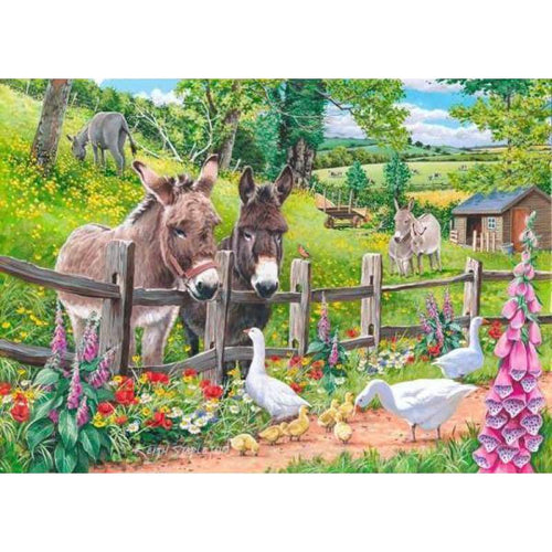 5D Diamond Painting Kits Colored Drawing Donkey and Duck - 3