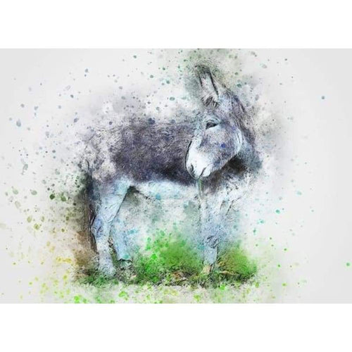 5D Diamond Painting Kits Colored Drawing Donkey - 3