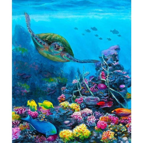 5D Diamond Painting Kits Swimming Turtle in the Sea - 2