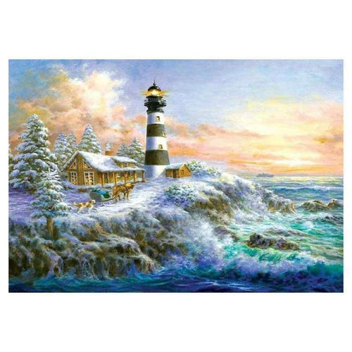 5D Diamond Painting Kits Home Decorate Lighthouse - 4