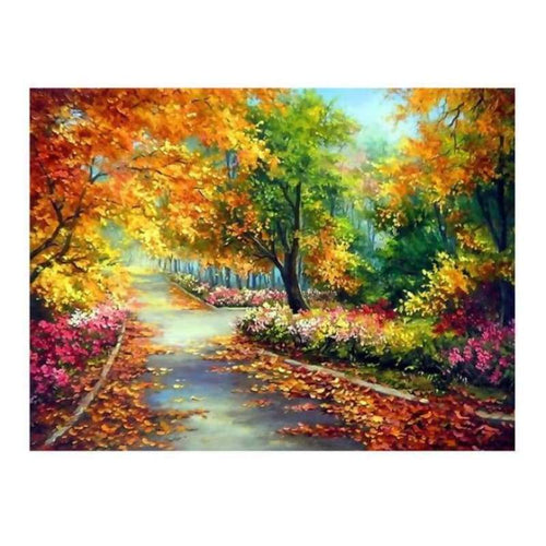 5D Diamond Painting Kits Charming Autumn Colored Forest - 4