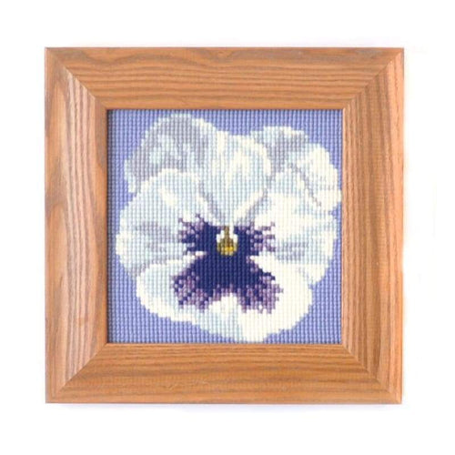Pansy Mini Kit Needlepoint Kit Elizabeth Bradley Design