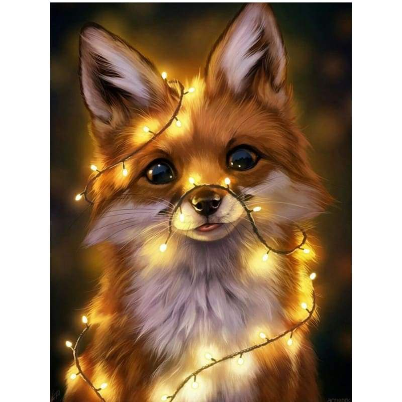 Animal Little Fox Diy Paint By Numbers Kits VM91634 - NEEDLEWORK KITS