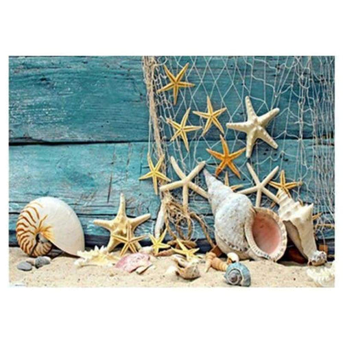 5D Diamond Painting Kits Fantasy Beach Summer Starfish - 4
