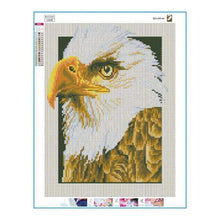 Load image into Gallery viewer, Full Drill - 5D DIY Diamond Painting Kits Serious Eagle Head - NEEDLEWORK KITS