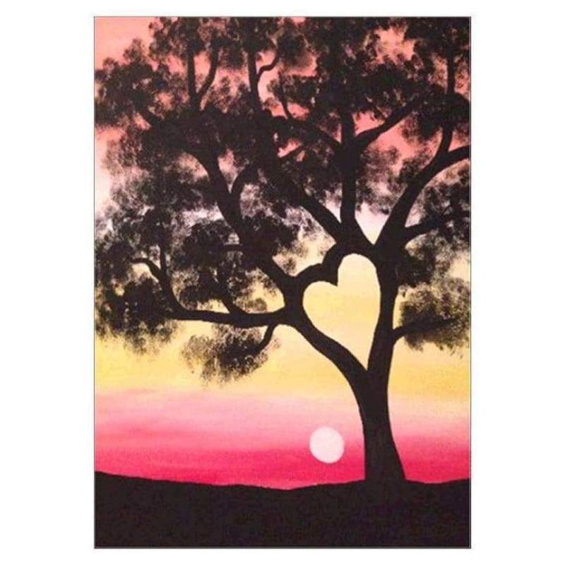 Full Drill - 5D DIY Diamond Painting Kits Popular Sunset Tree - NEEDLEWORK KITS