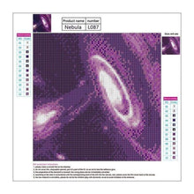 Load image into Gallery viewer, 5D DIY Diamond Painting Kits Popular Wall Decoration Purple Galaxy