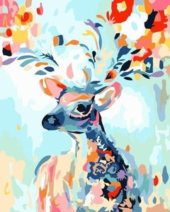 Deer Diy Paint By Numbers Kits WM-1654 - NEEDLEWORK KITS