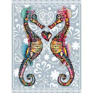 Seahorse Diy Paint By Numbers Kits QFA90066 - NEEDLEWORK KITS