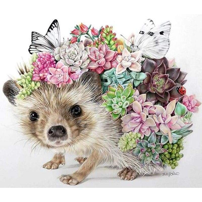 Hedgehog Diy Paint By Numbers Kits VM90099 - NEEDLEWORK KITS