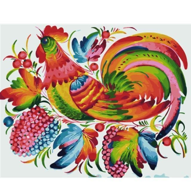 Cock Diy Paint By Numbers Kits VM96061 - NEEDLEWORK KITS