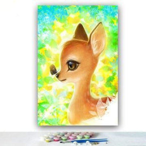 Deer Diy Paint By Numbers Kits PBN94079 - NEEDLEWORK KITS