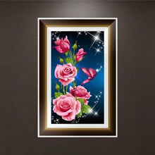 Load image into Gallery viewer, Full Drill - 5D DIY Diamond Painting Kits Romantic Roses and Butterflies - NEEDLEWORK KITS