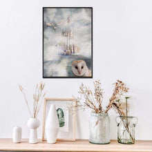 Load image into Gallery viewer, 5D DIY Diamond Painting Kits Romantic White Castle And Owl in the Fog - 5