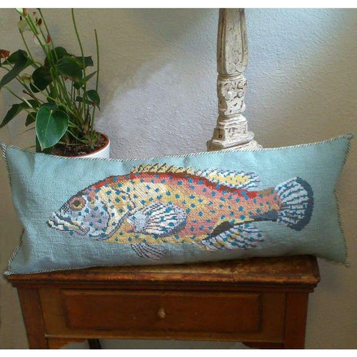 Sea Bass (Pale Blue Background) - Tapestry and Needlepoint Kits