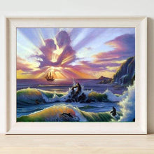 Load image into Gallery viewer, 5D DIY Diamond Painting Kits Seaside Sky Lovers - Z2