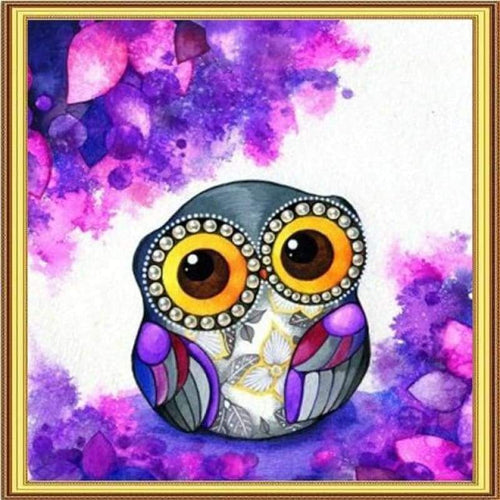 5D Diamond Painting Kits Cartoon Big Eyes Owl - Z0