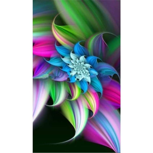 5D DIY Diamond Painting Kits Abstract Flower - 9