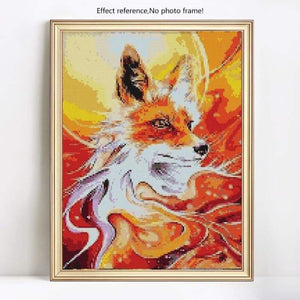 5D Diy Diamond Painting Kits Special Visional Fox - 3