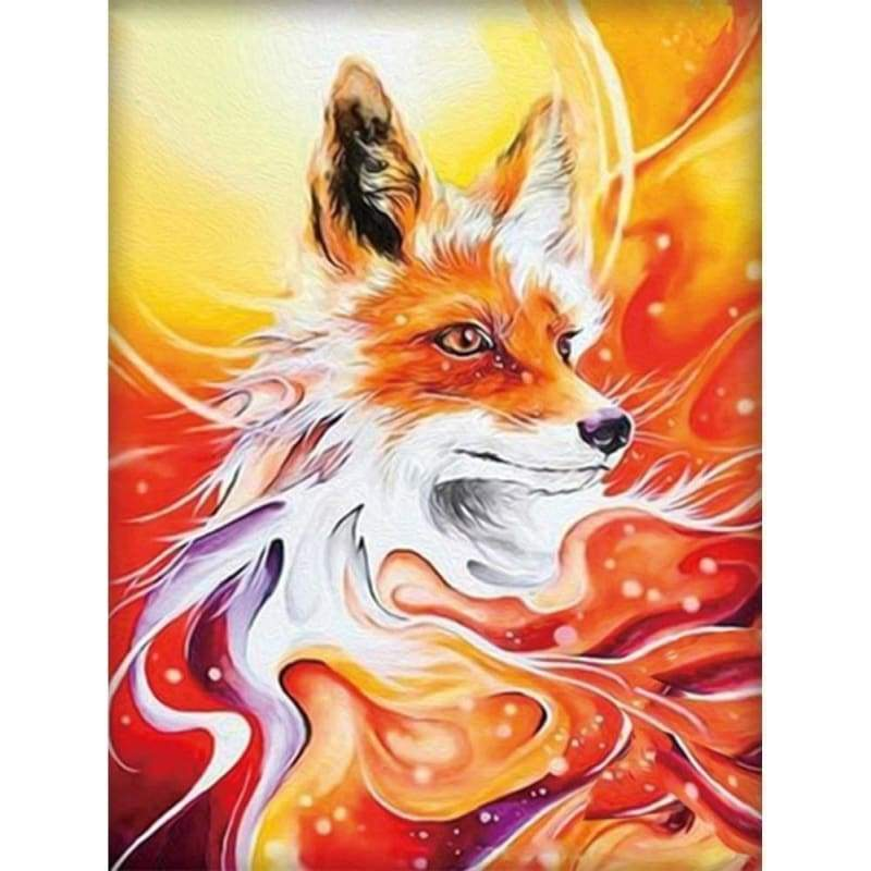 Full Drill - 5D Diy Diamond Painting Kits Special Visional Fox - NEEDLEWORK KITS