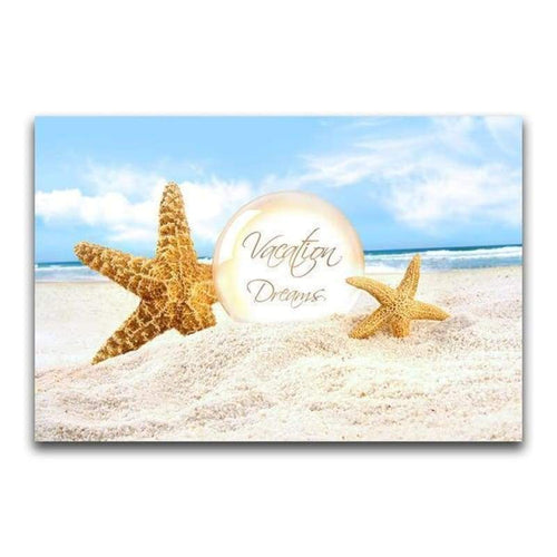 5D Diy Diamond Painting Kits Starfish on the Beach - 5