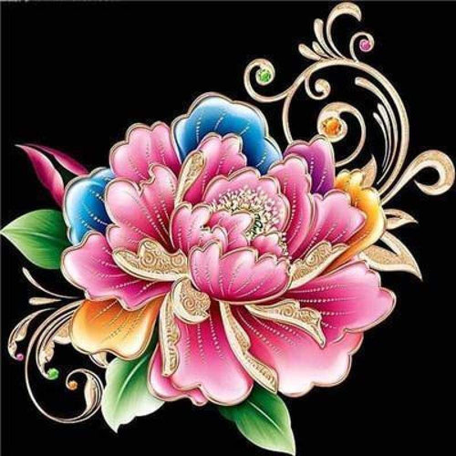 5D DIY Diamond Painting Kits Colorful Flower