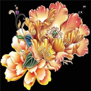 Full Drill - 5D DIY Diamond Painting Kits Delicate Yellow Flowers - NEEDLEWORK KITS