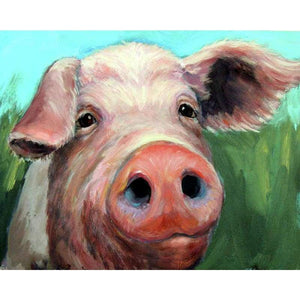 Full Drill - 5D DIY Diamond Painting Kits Special Pig Blowing in the Wind - NEEDLEWORK KITS