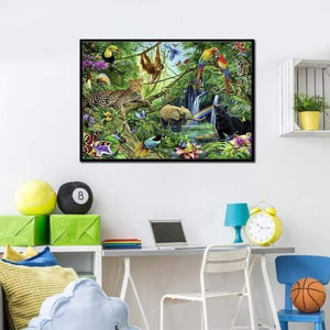 Full Drill - 5D DIY Diamond Painting Kits Special Safari Wildlife in the Forest - NEEDLEWORK KITS