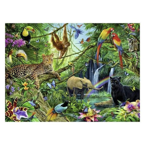 5D DIY Diamond Painting Kits Special Safari Wildlife in the Forest - 4
