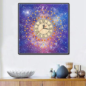 5D DIY Diamond Painting Kits Shaped Starry Clock