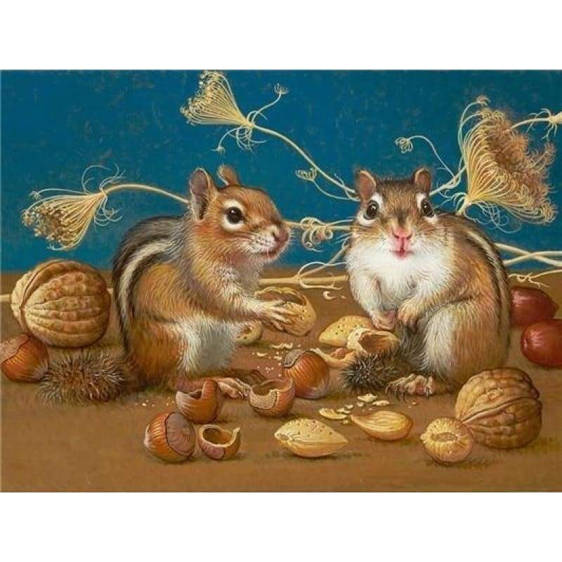 5D DIY Diamond Painting Kits Special Squirrel Husking - 4