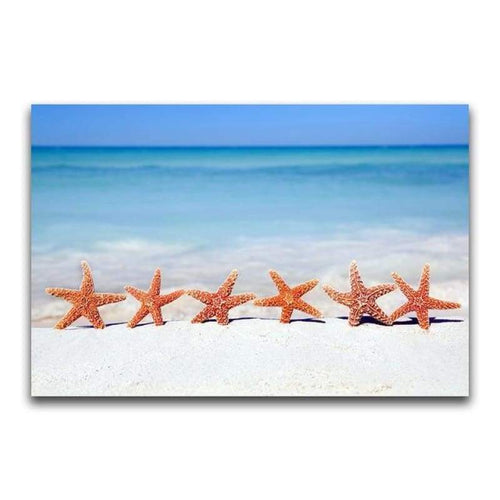 5D DIY Diamond Painting Kits Special Starfish By the Sea - 5