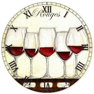 5D DIY Diamond Painting Kits Special Wine Clock