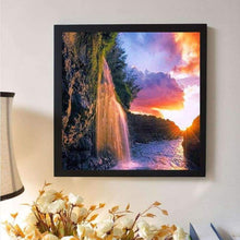 Load image into Gallery viewer, Full Drill - 5D DIY Diamond Painting Kits Spectacular Waterfall Sunset View - NEEDLEWORK KITS