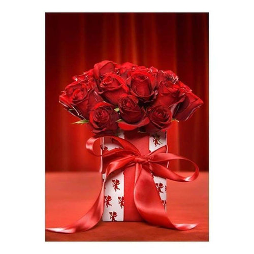5D Diy Diamond Painting Kits Pretty romantic Red Roses - 4
