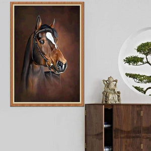 5D Diy Diamond Painting Kits Oil Painting Deep Horse - 4