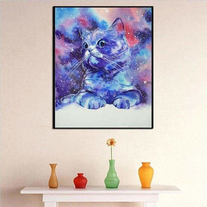 Full Drill - 5D DIY Diamond Painting Kits Watercolor Cute Proud Cat