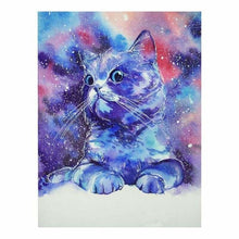 Load image into Gallery viewer, Full Drill - 5D DIY Diamond Painting Kits Watercolor Cute Proud Cat