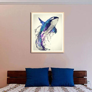 Full Drill - 5D DIY Diamond Painting Kits Watercolor Dream Flying Dolphin - NEEDLEWORK KITS