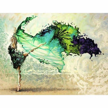 Load image into Gallery viewer, Full Drill - 5D Diy Diamond Painting Kits Watercolor Wonderful Dancer Girl