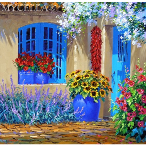 Full Drill - 5D DIY Diamond Painting Kits Watercolor New Arrival Garden Door Decor - NEEDLEWORK KITS
