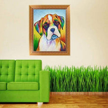 Load image into Gallery viewer, Full Drill - 5D DIY Diamond Painting Kits Watercolor Pet Dog QB5447 - NEEDLEWORK KITS