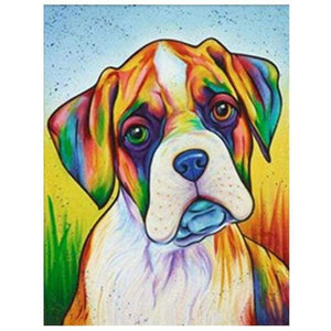 Full Drill - 5D DIY Diamond Painting Kits Watercolor Pet Dog QB5447 - NEEDLEWORK KITS