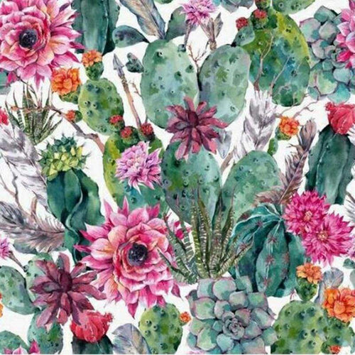 5D DIY Diamond Painting Kits Watercolor Plant Flower Cactus NA90382